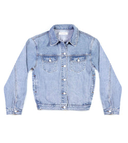 Method of Denim Womens Jackets J Bomb Vintage Jacket - Light Blue (1381887770710)