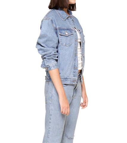 Method of Denim Womens Jackets J Bomb Vintage Jacket - Light Blue