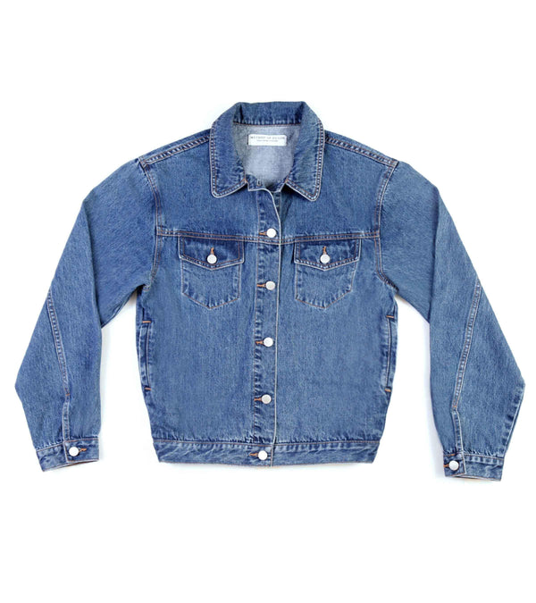 Method of Denim Womens Jackets J Bomb Vintage Jacket - Vintage Blue