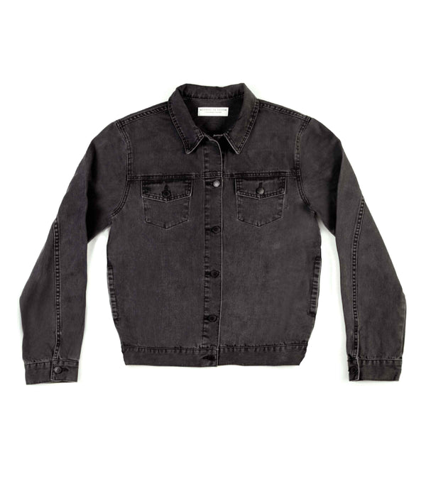 Method of Denim Womens Jackets J Bomb Vintage Jacket - Washed Black