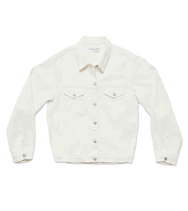 Method of Denim Womens Jackets J Bomb Vintage Jacket - White