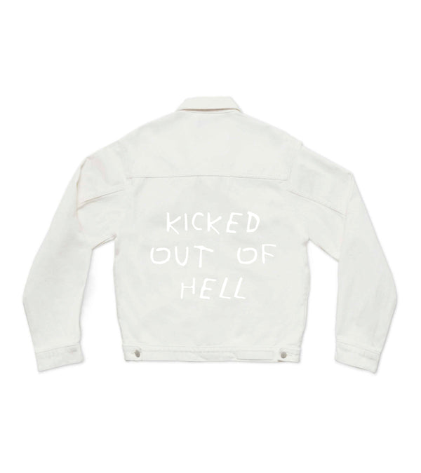 Method of Denim Womens Jackets Kicked Out Of Hell - Denim Jacket (3942262636630)
