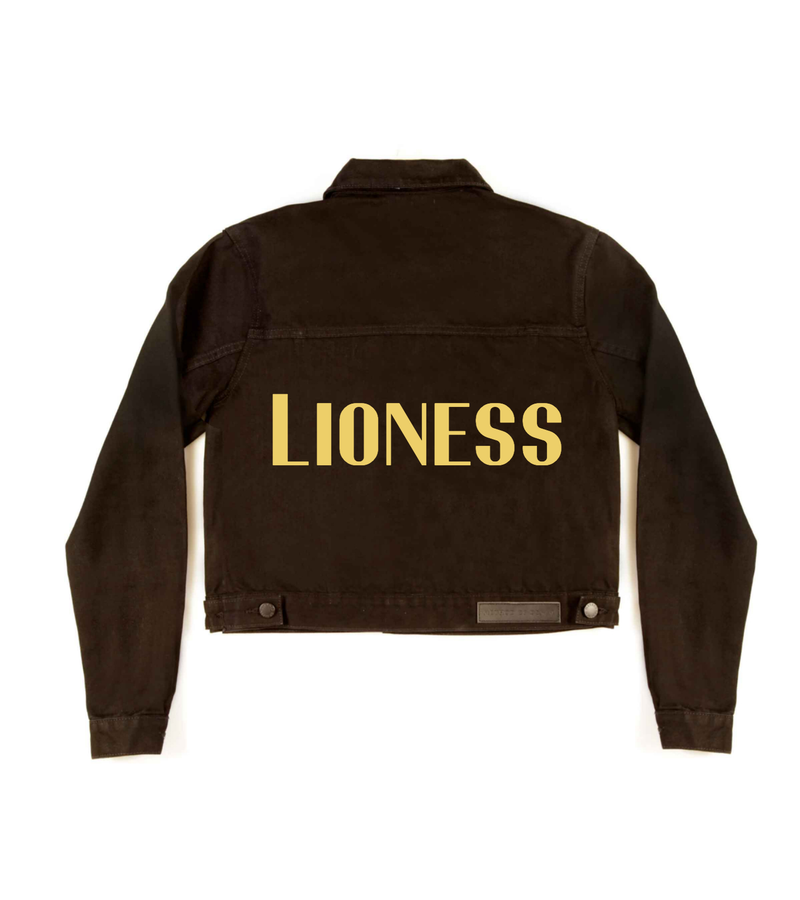 Method of Denim Womens Jackets 'Lioness' Cut Off Black Denim Jacket