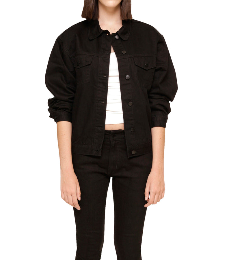 Method of Denim Womens Jackets 'Monogram' Denim Jacket (4604065742934)