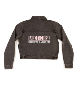 Method of Denim Womens Jackets 'Take The Risk' Denim Jacket (4602394280022)