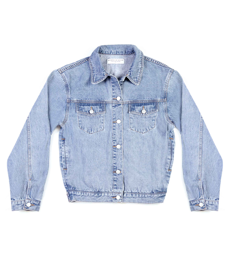 Method of Denim Womens Jackets 'The Eyes' Denim Jacket (4600806211670)