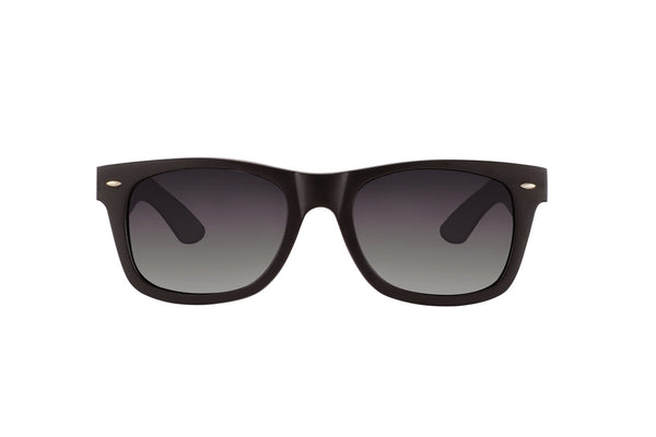#191919 Black wood Sunglasses that float and have dark polarized lenses