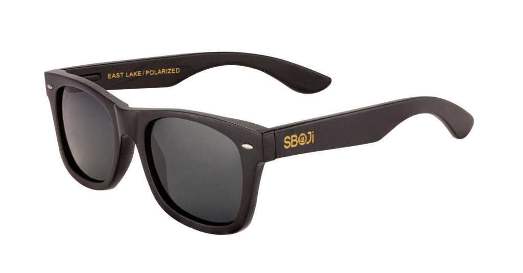 #191919 black wood sunglasses with polarized lenses