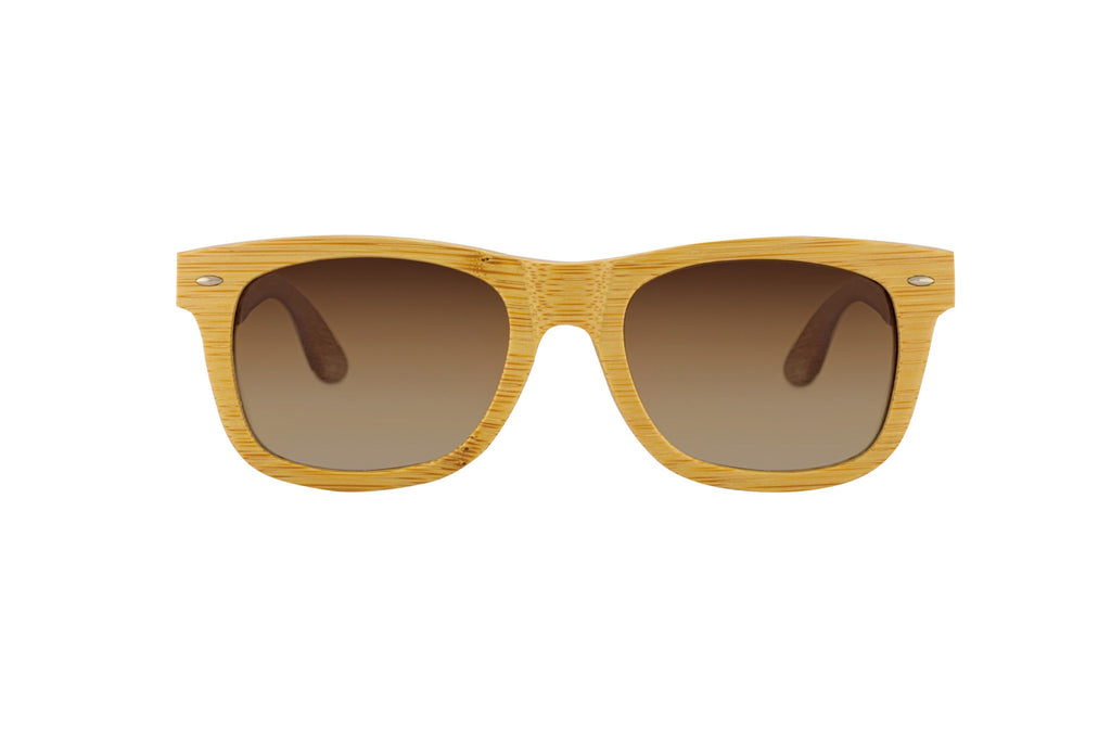 #d1a937 all wood sunglasses natural color