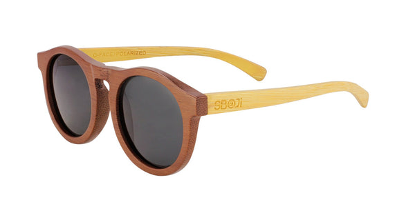 #d1a937 bamboo sunglasses with polarized lens round