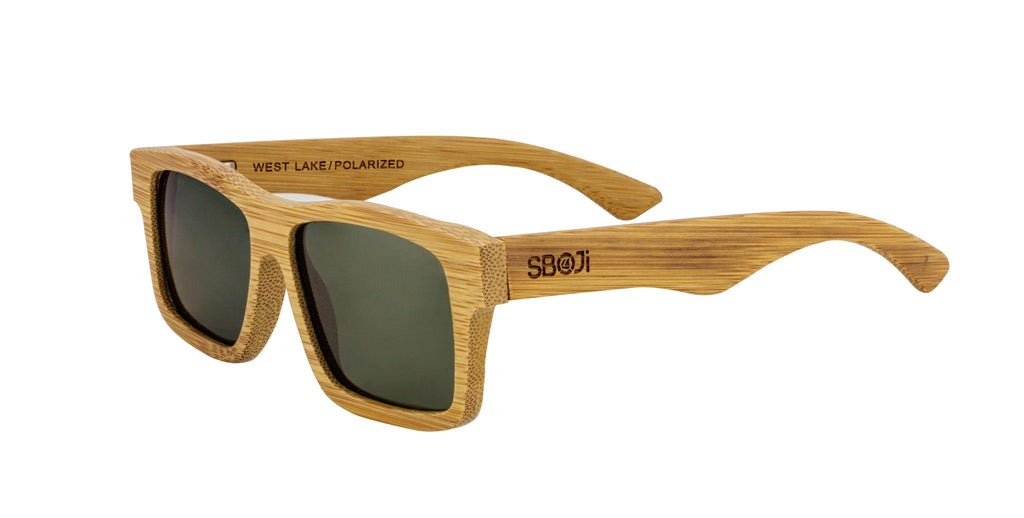 #d1a937 polarized sunglasses made of bamboo