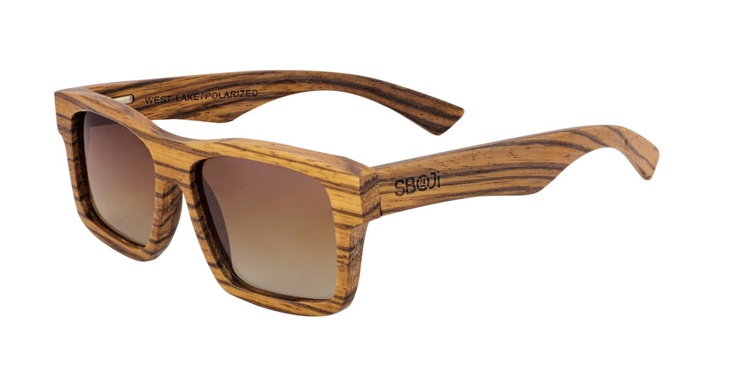 #d1a937 zebra wood sunglasses