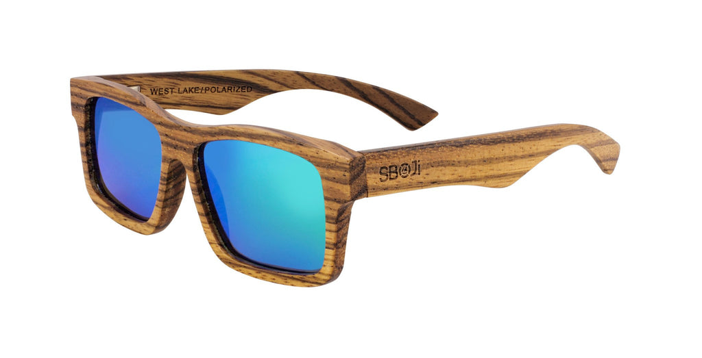 #d1a937 zebra wood sunglasses west lake