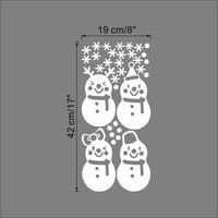 Vinyl Removable Merry Christmas Snowmen Sticker Decals FREE ITEM!!