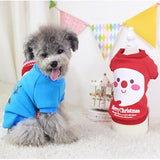 Merry Christmas Cotton Style Doggie Shirt - 2 Color Variations
