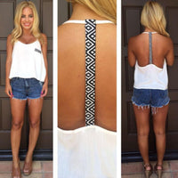 Summer Backless Sleeveless Shirt
