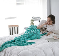 Luxurious Mermaid Tail Scales Style Blanket