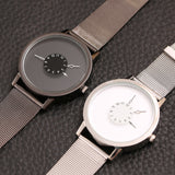 Luxury Stainless Steel Quartz Watch - 2 Color Variations
