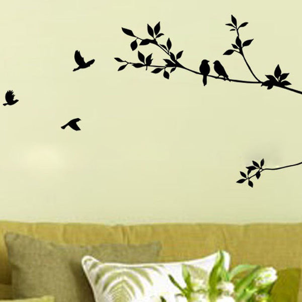 Tree Branch Black Bird Vinyl Decal Removable