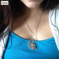 Sun & Crescent Moon Necklace FREE ITEM!