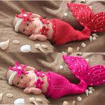 Newborn Baby Mermaid Tail Outfit
