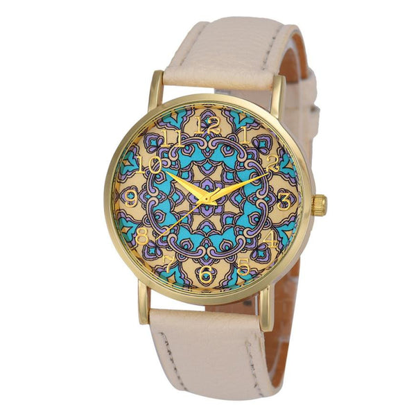 Luxury Womens Faux Leather Analog Quartz Watch - 5 Color Variations