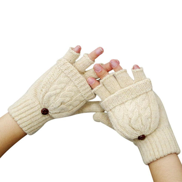 Winter Warm Mittens Fingerless - 4 Color Variations