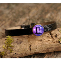 Zodiac Gemini Glass Gemstone Bracelet