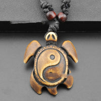 Hand Carved Turtle Necklace