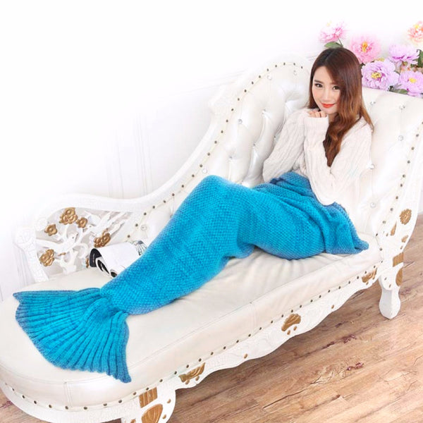 Luxurious Mermaid Tail Blanket - Blue
