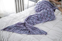 Violet Luxurious Mermaid Tail Scales Style Blanket