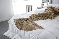 Brown Luxurious Mermaid Tail Scales Style Blanket