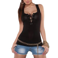 Casual Tank Top Lace Halter