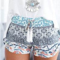 Summer Floral High Waist Floral Shorts