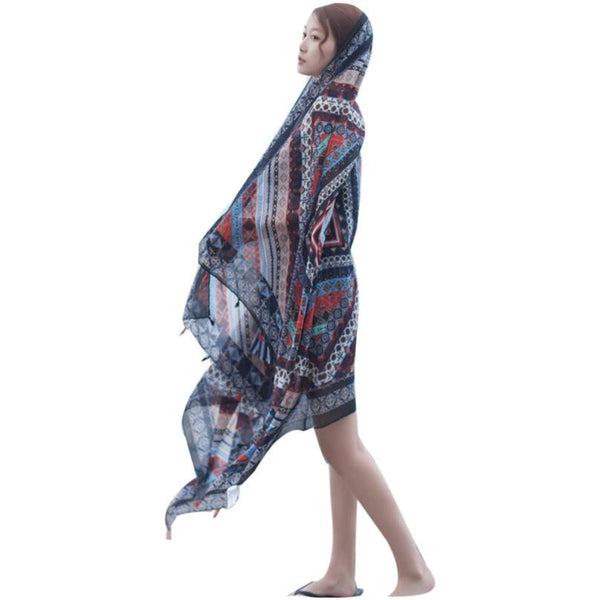 Head Sarong Beach Style Shawl 3 Color Variations