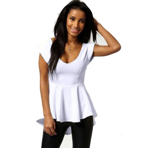 Hot Summer V-Neck Sleeveless Zipper Blouse - Black or White