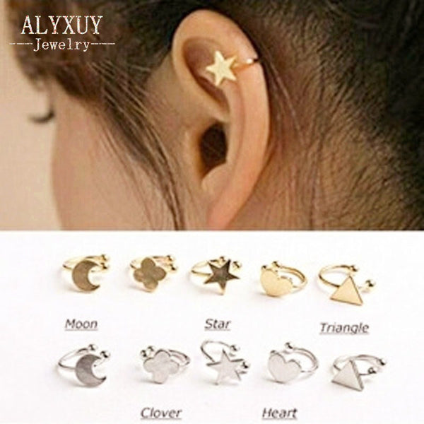 Star,  Moon,  Heart, and more Clip Stud Earrings