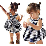 Sunsuit Infant Backless Dress Stripes