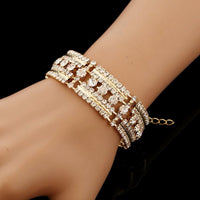Cuff Bracelet Bangle -  Gold or Silver