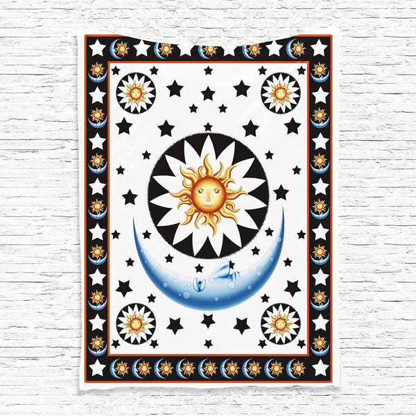Summer Sun Moon Wall Tapestry