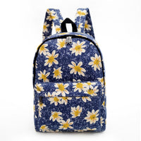 Bohemian Backpack with Flower Pattern Design