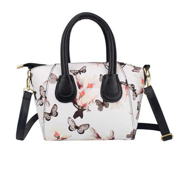 Floral Leather Crossbody Handbag - 2 Color Variations
