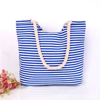 Womens Messenger Striped Handbag - 2 Design Variations