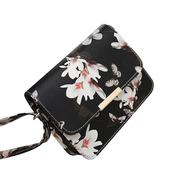 Floral Butterfly Pattern Clutch - 2 Color Variations