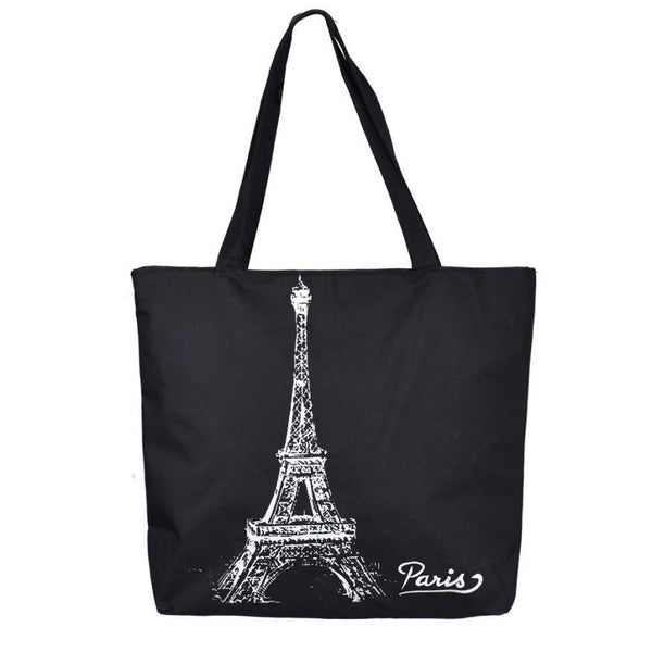 Shoulder Bag Eiffel Tower Black