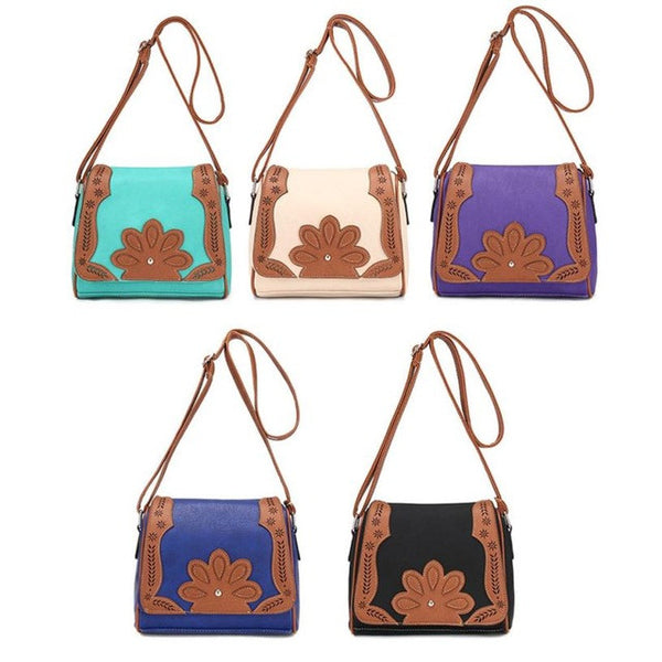All Season Vintage Leather Handbag - 5 Color Variations