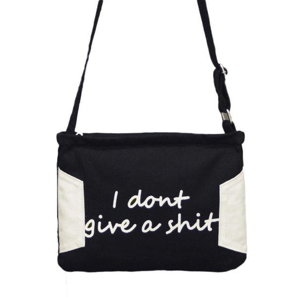 Womens Messenger Shoulder Bag- I don't give a sh*& - 2 Color Variations