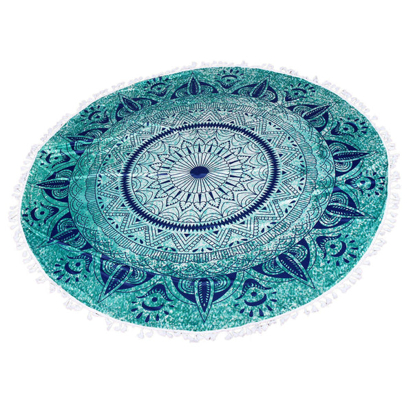 Round Beach Towel Blanket or Yoga Meditation Mat