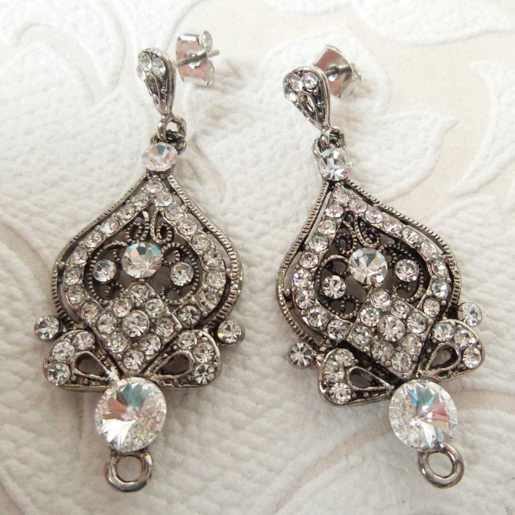 Victorian Bridal Chandelier Earring Components