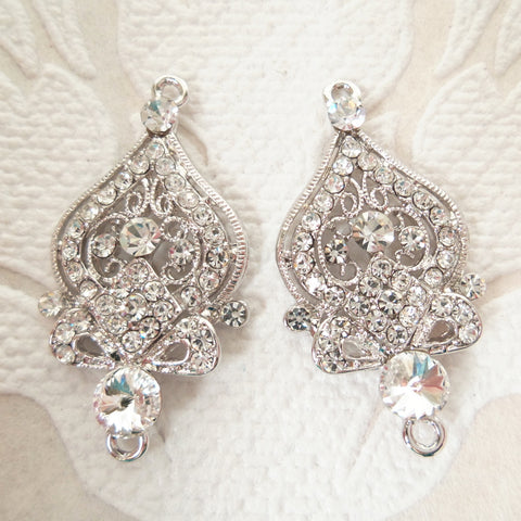 Victorian Bridal Chandelier Earring Body Components